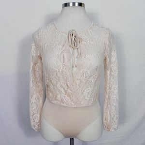 Forever 21   Sexy Pink Lace Bodysuit M